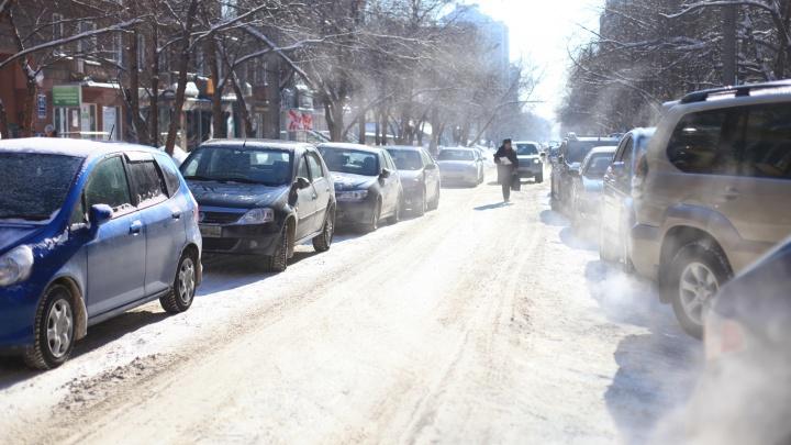 Мэрия запретила парковку на улице, где ходит трамвай № 13