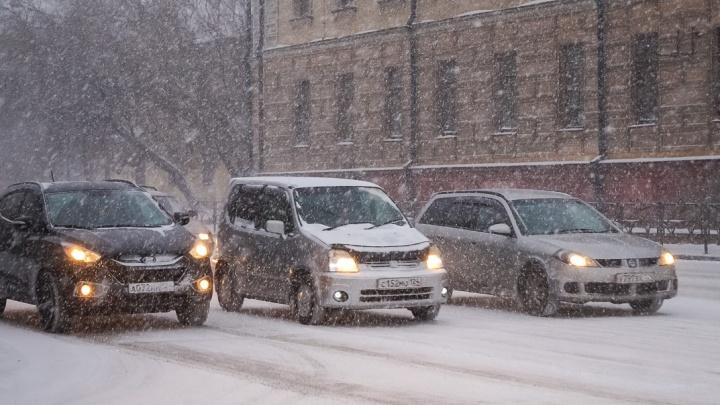 Снег и резкое похолодание подступают к Красноярску