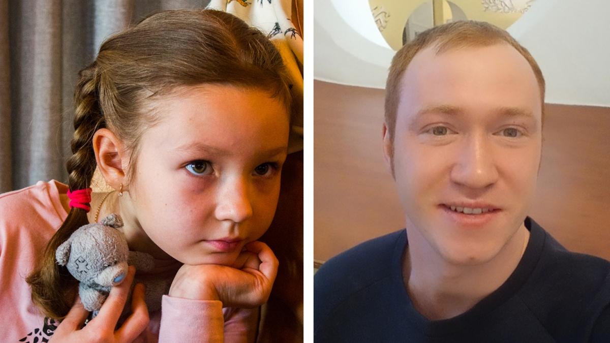 Сергей Москвин спас маленькую сибирячку Тасю Морозову, у которой обнаружили рак крови