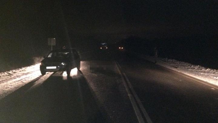 На ночной трассе в Башкирии насмерть сбили пешехода