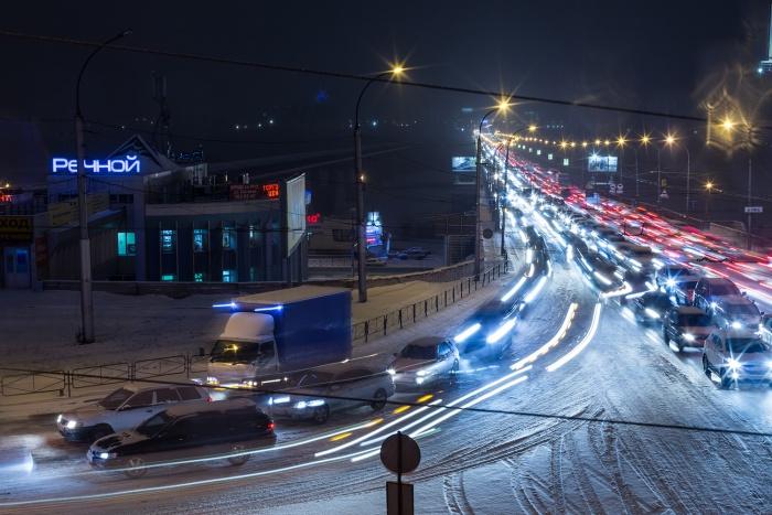 В декабре 10-балльные пробки в Новосибирске —уже во второй раз