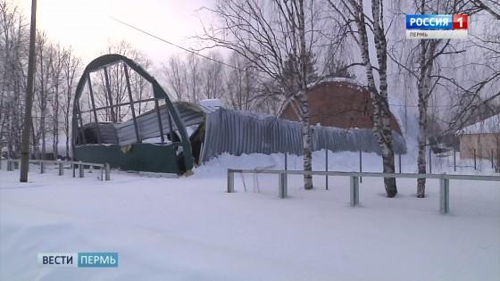 В Прикамье рухнуло строящееся здание школьного спортзала