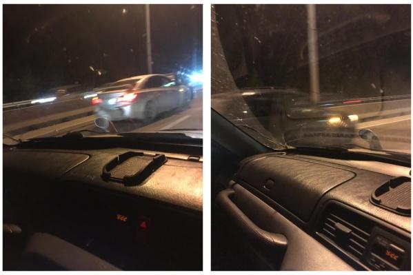 Из-за мелкой аварии водители не могут добраться в город