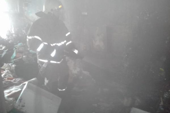 В квартире оказалось очень много дыма