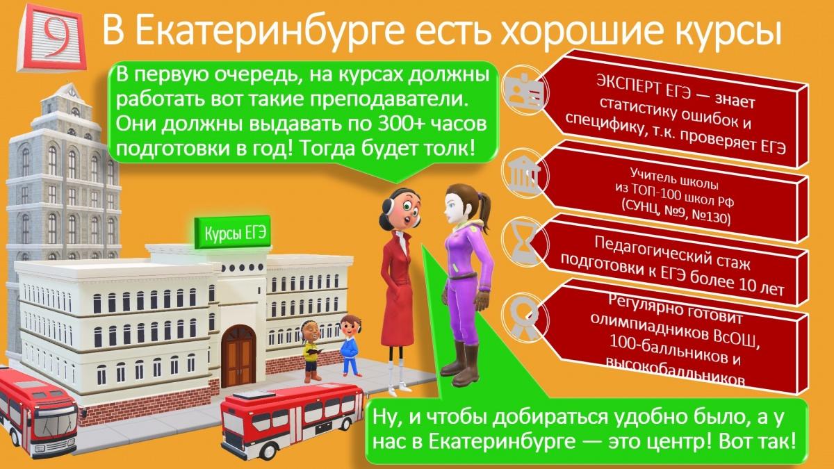 Екатеринбург — современный развитый мегаполис, в котором есть проекты с ведущими педагогами региона и хорошим объёмом подготовки