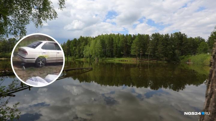 Девушка помыла машину в озере на Мясокомбинате на глазах у отдыхающих