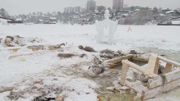 «Купели демонтируют»: Мотовилихинский пруд приведут в порядок после Крещения