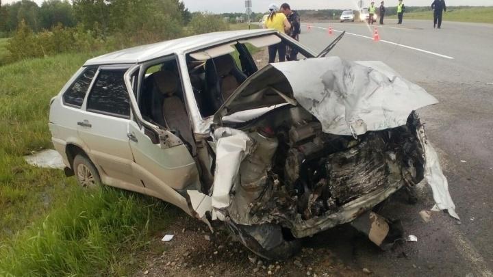 Под Нижним Тагилом столкнулись два ВАЗа: один человек погиб, трое получили травмы