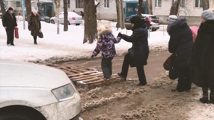 Рванула труба: самарец снял на видео потоп на проспекте Кирова