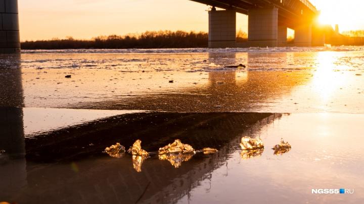 Солнечный свет сквозь лёд: фоторепортаж о начале ледостава на Иртыше