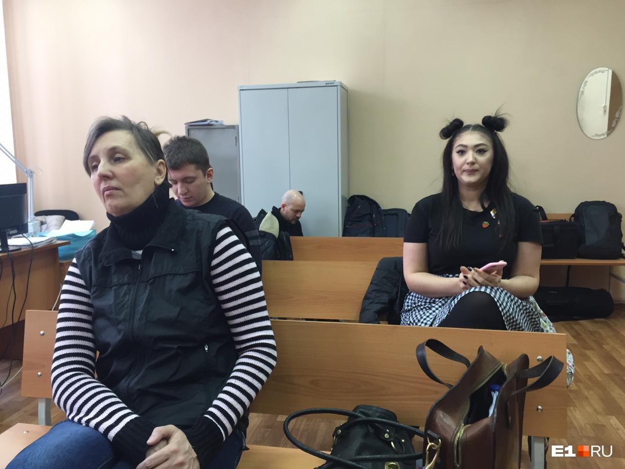 На переднем плане — мать Юлии Прокопьевой Светлана Рябова