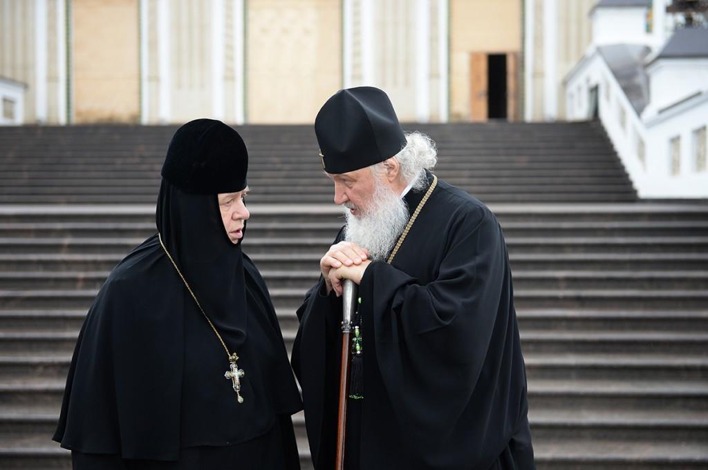 Игуменья в добрых отношениях с патриархом Московским и всея Руси Кириллом