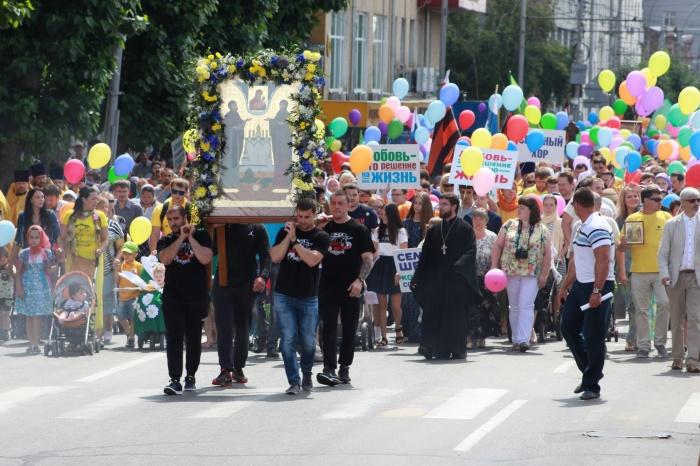 Крестный ход отправился по центру Новосибирска в 13:00