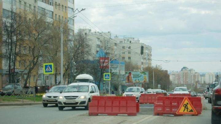 В Уфе отремонтировали дорогу после коммунальной аварии