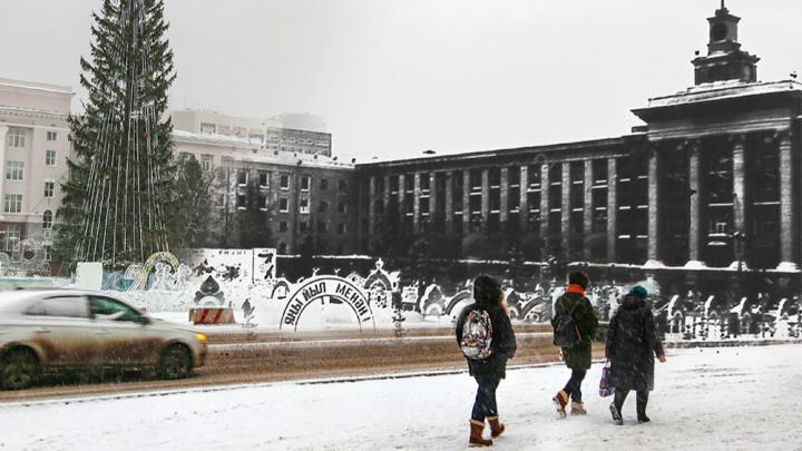 «Словно в детство вернулись»: разглядываем новогоднюю Советскую площадь в Уфе 30 лет назад и сейчас