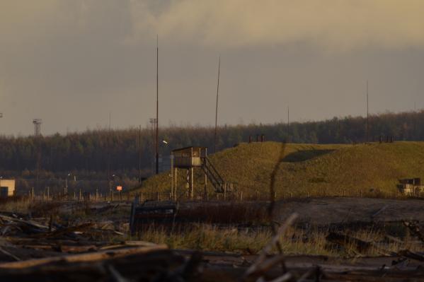 Так выглядит полигон недалеко от села в МО «Северодвинск»