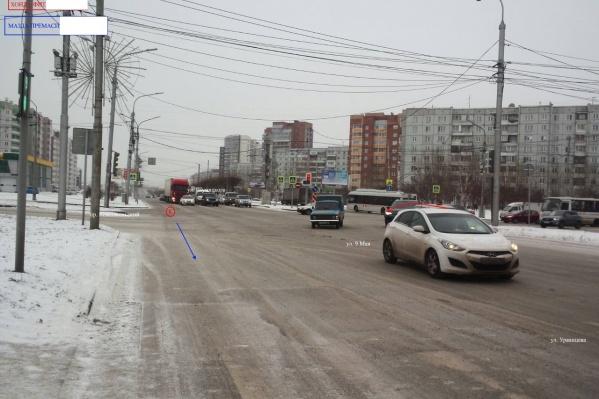 Авария произошла на перекрестке 9 Мая — проспект Комсомольский
