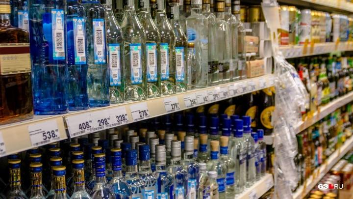 В Самарской области в «Пятерочке» рухнула витрина с алкоголем