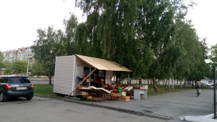«Это беспредел!»: власти Челябинска пообещали снести киоск, незаконно установленный на газоне