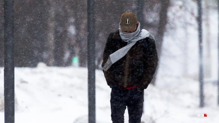 В Самарской области снова ожидают снег с сильным ветром