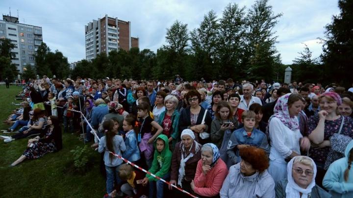 В Новосибирске показали световое представление «Царь» (фото и видео)