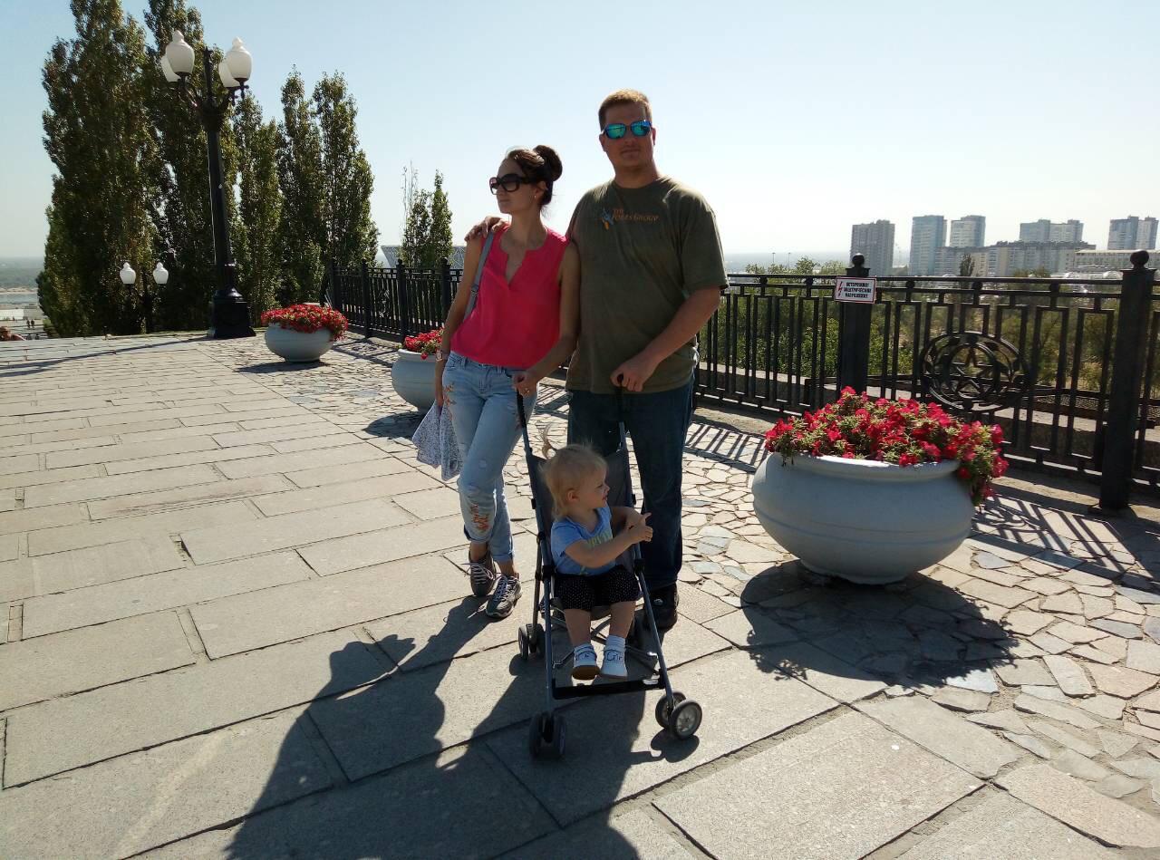 Елена с мужем и дочерью не раз приезжали в Волгоград уже как туристы