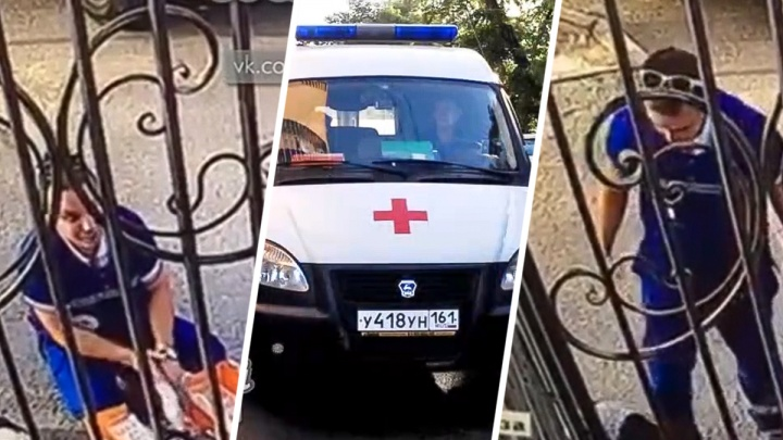 В центре Ростова фельдшер скорой помощи пнул пенсионерку за оскорбления