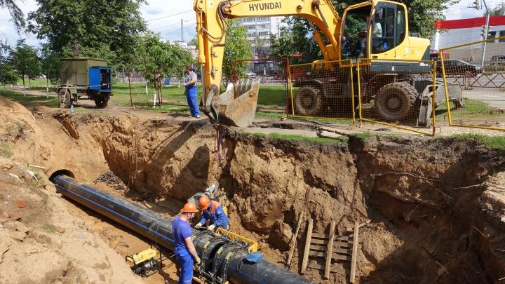 На улицах Ярославля заменили почти 6 километров водопроводных сетей