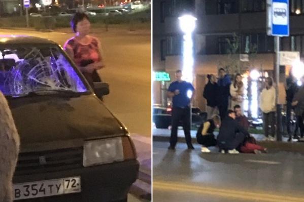 До приезда скорой и полиции пострадавшей помогали очевидцы