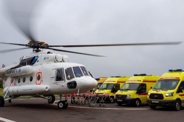 Новый вертолет белого цвета будет вылетать для помощи пострадавшим в отдаленных районах края
