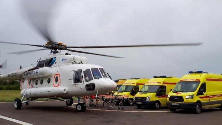 В Красноярске у санавиации появился новый вертолет