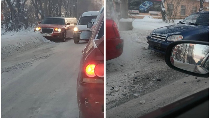 На Комсомольской Chevrolet Lanos столкнулся с лимузином
