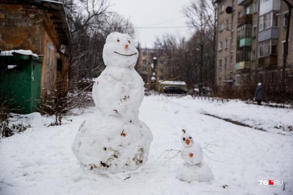 А ты слепил снеговика в своем дворе?