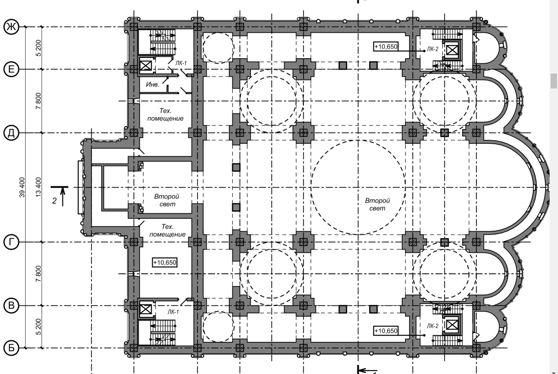 Третий этаж будет скорее техническим, кроме того, основная часть помещения там будет со «вторым светом», то есть пространство будет сквозным, без перекрытий
