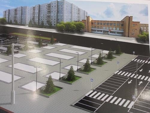 «Парковки не будет»: представлены макеты новой площади перед ТЦ «Красноярье» без фонтана