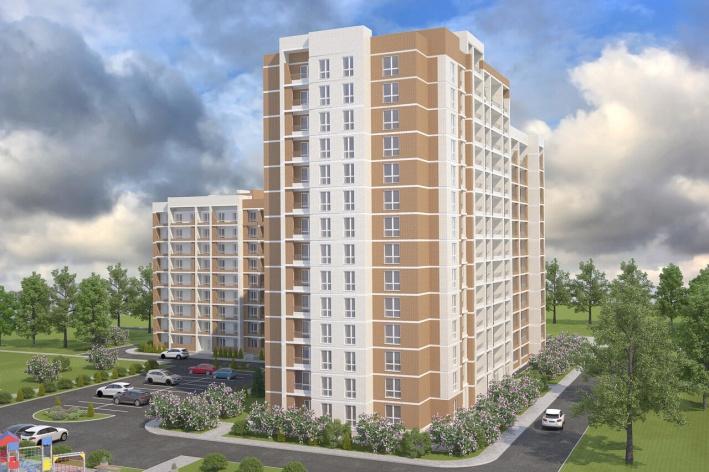 Стены дома будут отделаны красивым облицовочным кирпичом красного, белого и серого цветов — выглядит очень стильно