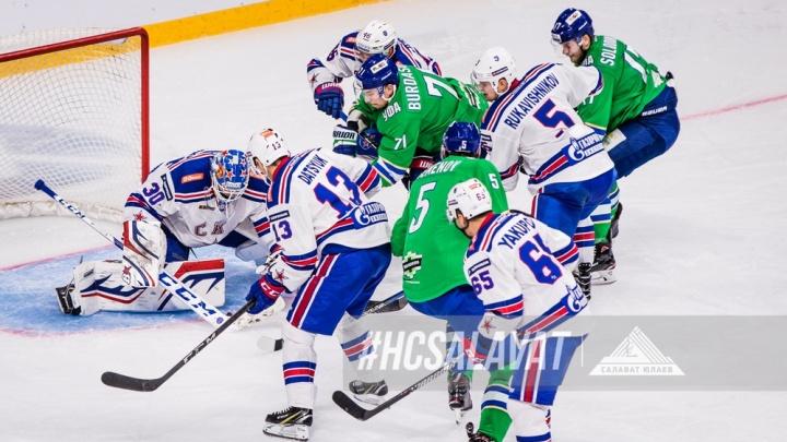 «Салават» вырвал победу у СКА на последних секундах матча