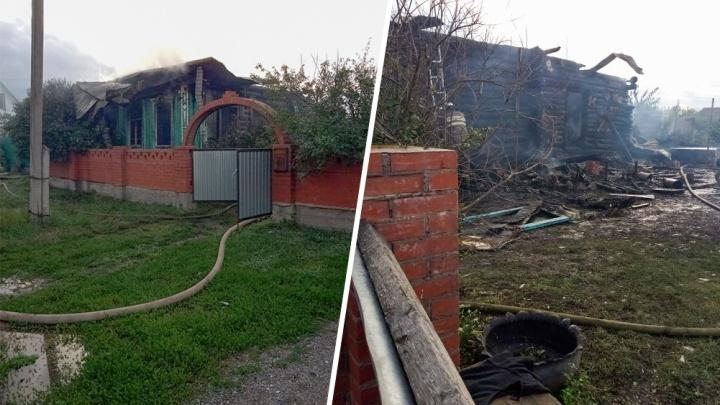 Семья осталась без крова: в Башкирии полностью сгорел жилой дом