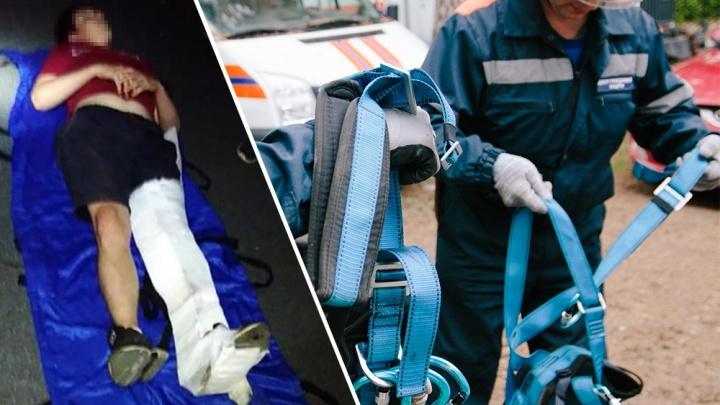 В Тольятти подросток забрался на крышу заброшки и сломал ногу