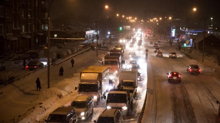 На Большевистской между Бугринским мостом и Разъездом Иня случились две аварии