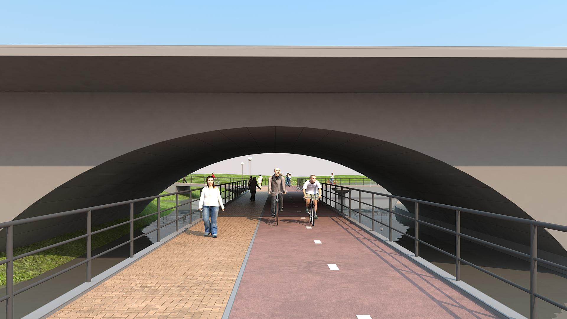 Велопешеходный мост под мостом на Куйбышева