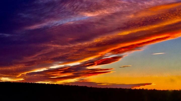 Розовое небо Екатеринбурга: публикуем фотографии красивейшего заката от читателей E1.RU