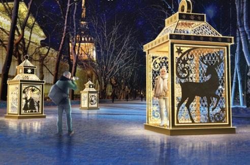В Самаре новогодние световые фигуры превратят в фотозоны