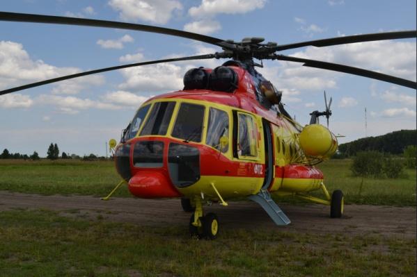 Вертолёт санавиации начал работать в регионе с 9 августа