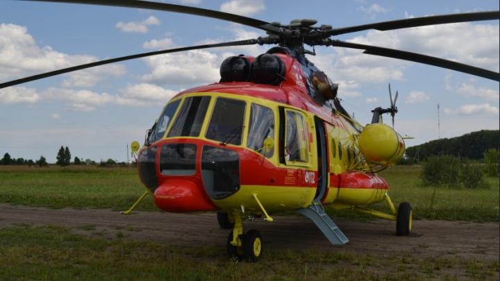 Вертолёт санавиации доставил в больницу 12 тяжелобольных пациентов