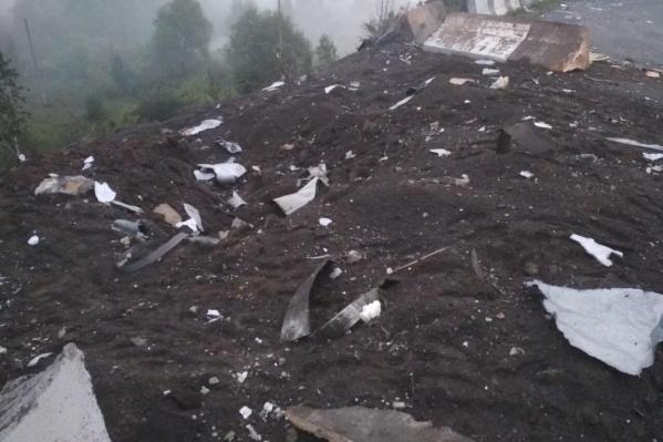 Последствия взрыва фуры в Назарово