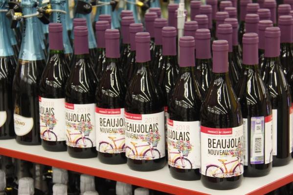 Полки в супермаркете «Мегас» уже забитыBeaujolais Nouveau
