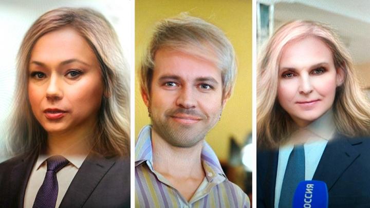 Все красавцы: Snapchat сменил пол новосибирским политикам, певцам и телеведущим