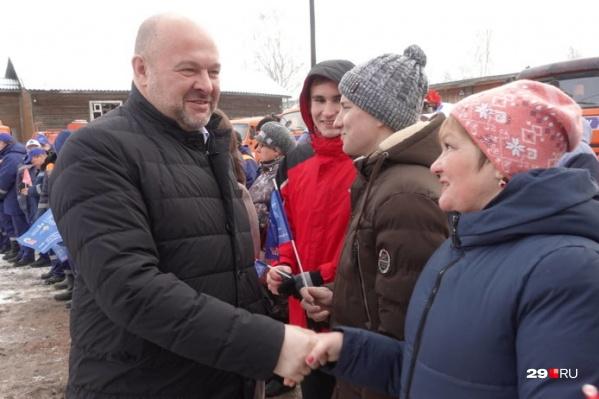 Игорь Орлов и жители Красноборского района<br>