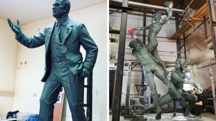 «Движение вверх»: скульпторы показали, как будут выглядеть фигуры волейболисток «Уралочки» и Карполя